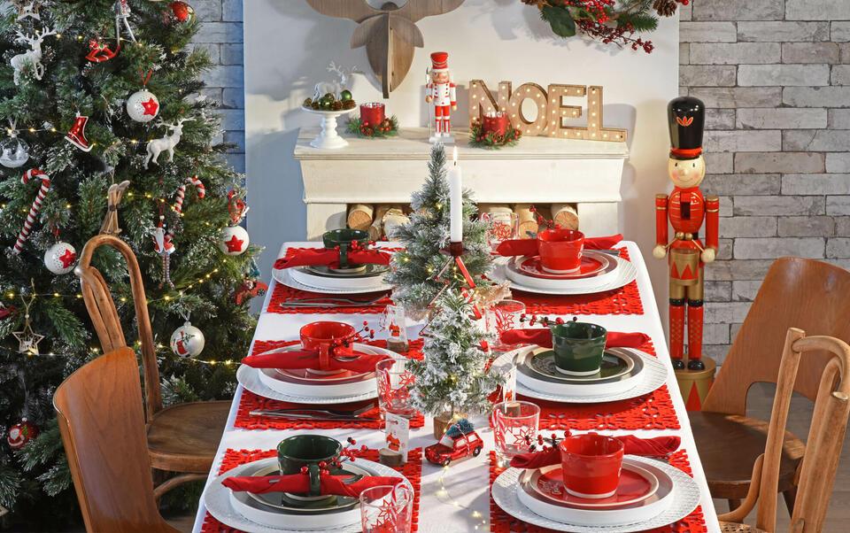 idées décoration de table de Noël