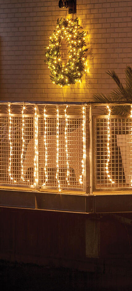 Luci decorative balcone