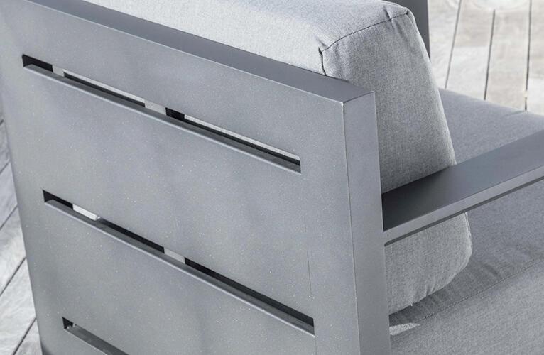 Salotto da giardino in alluminio